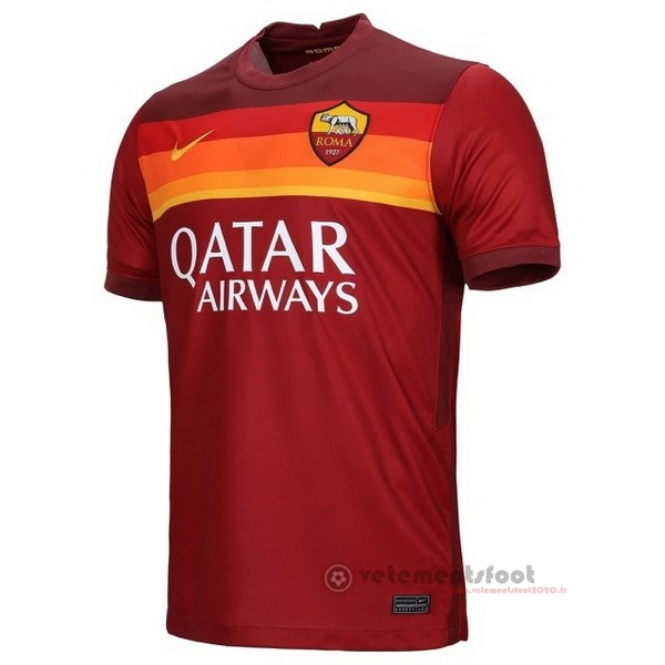 Domicile Maillot As Roma 2020 2021 Rouge Vente Maillot Foot