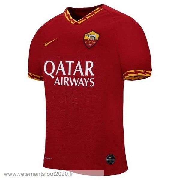 Domicile Maillot As Roma 2019 2020 Rouge Vente Maillot Foot