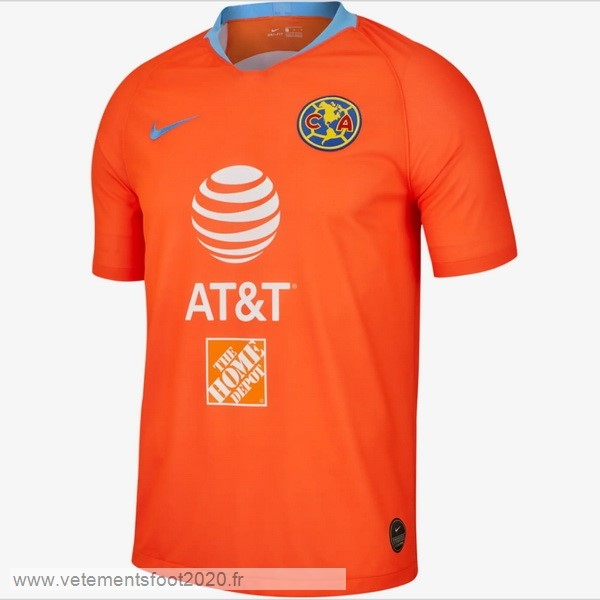 Third Maillot Club América 2019 2020 Orange Vente Maillot Foot