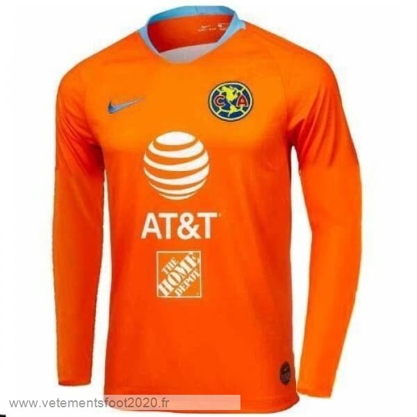 Third Manches Longues Club América 2019 2020 Orange Vente Maillot Foot