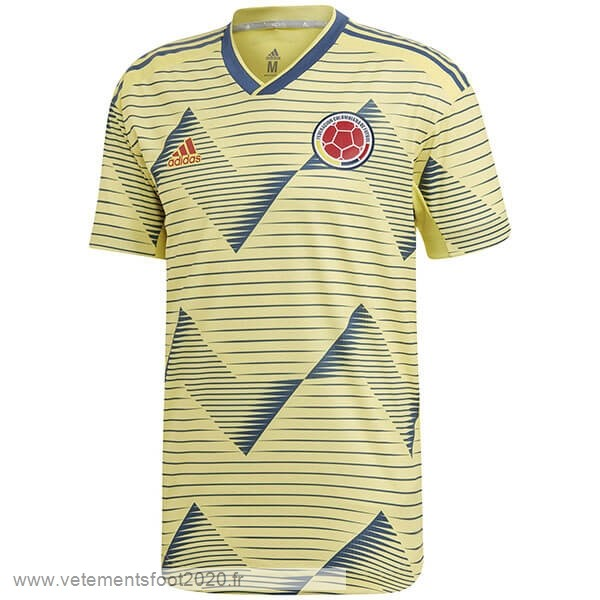 Domicile Maillot Colombia 2019 Jaune Vente Maillot Foot