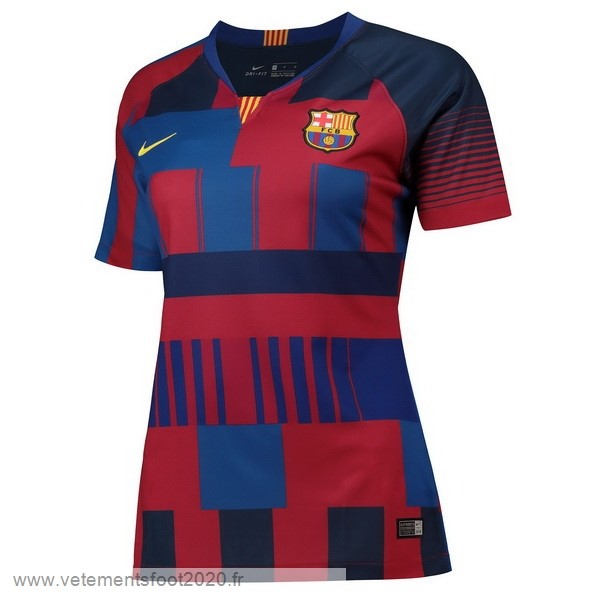 Maillot Femme Barcelona 20th Bleu Rouge Vente Maillot Foot