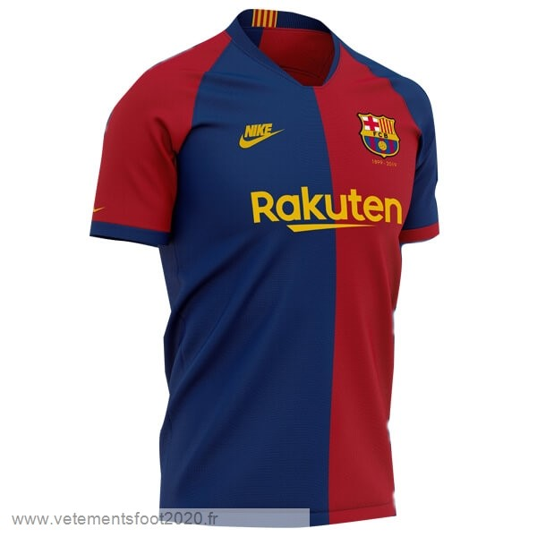 Domicile Maillot Barcelona 120th Bleu Rouge Vente Maillot Foot