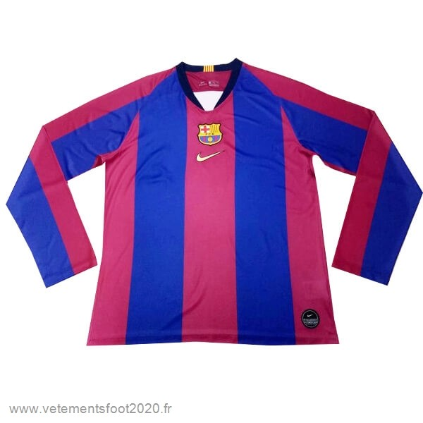 Manches Longues Barcelona 120th Bleu Rouge Vente Maillot Foot