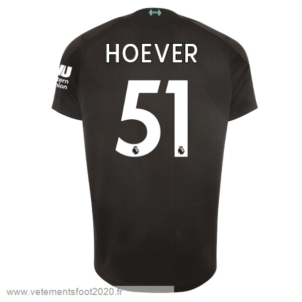 NO.51 Hoever Third Maillot Liverpool 2019 2020 Noir Vente Maillot Foot