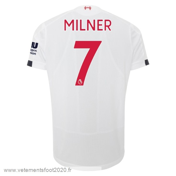 NO.7 Milner Exterieur Maillot Liverpool 2019 2020 Blanc Vente Maillot Foot