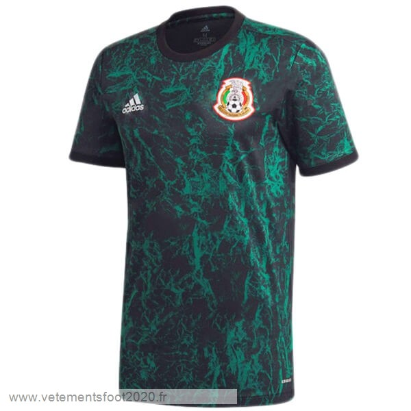 Pre Match Maillot Mexique 2020 Bleu Vente Maillot Foot