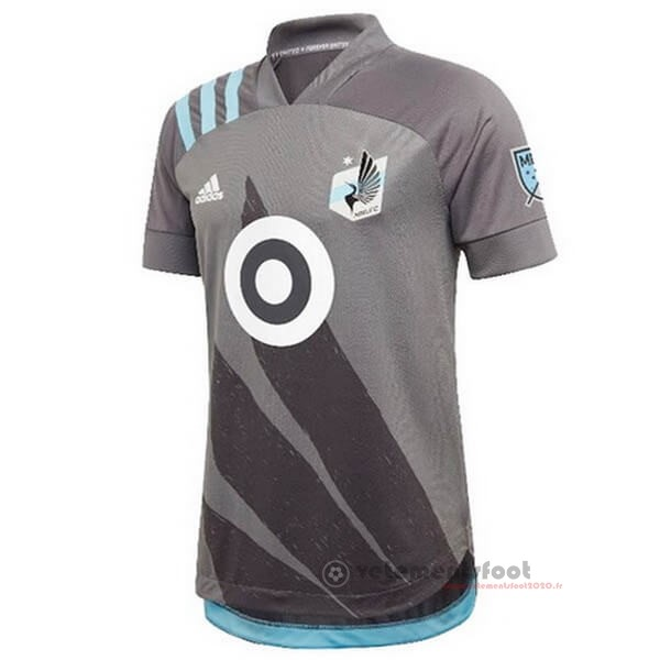 Domicile Maillot Minnesota United 2020 2021 Gris Vente Maillot Foot