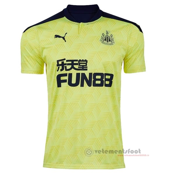 Exterieur Maillot Newcastle United 2020 2021 Jaune Vente Maillot Foot