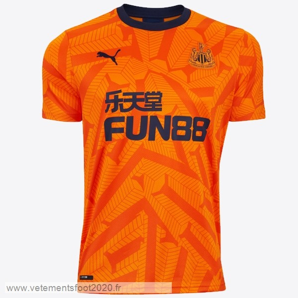 Third Maillot Newcastle United 2019 2020 Orange Vente Maillot Foot