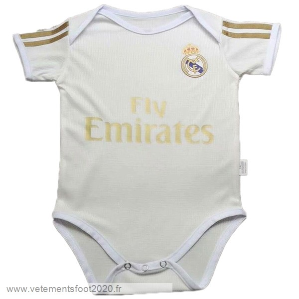 Domicile Onesies Enfant Real Madrid 2019 2020 Blanc Vente Maillot Foot