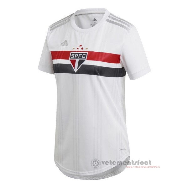 Domicile Maillot Femme São Paulo 2020 2021 Blanc Vente Maillot Foot