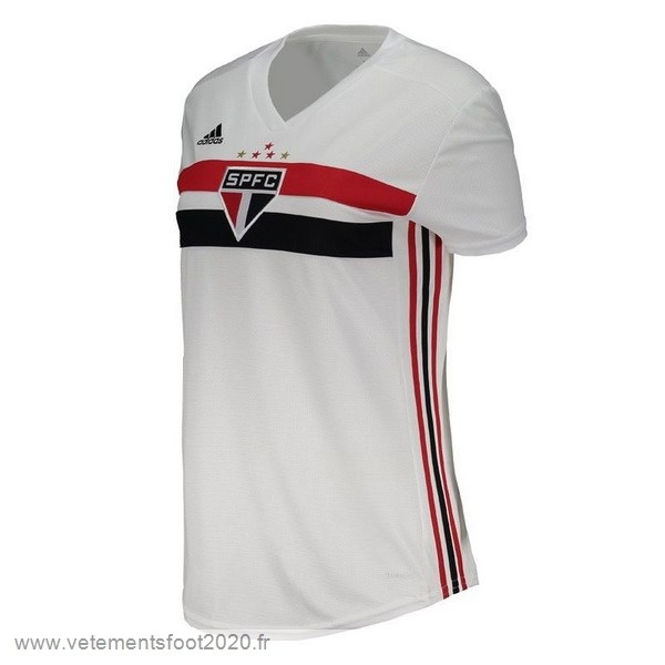 Domicile Maillot Femme São Paulo 2019 2020 Blanc Vente Maillot Foot