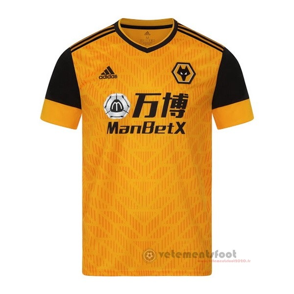 Domicile Maillot Wolves 2020 2021 Jaune Vente Maillot Foot